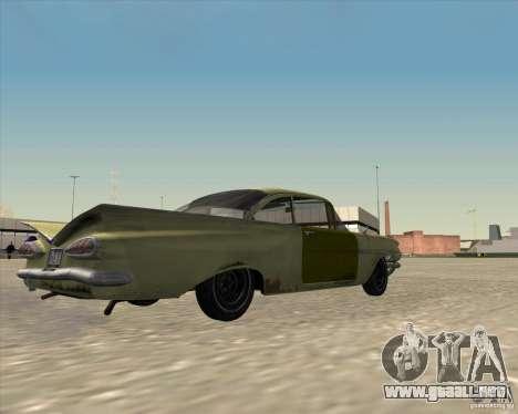 Chevrolet Biscayne 1959 para GTA San Andreas vista hacia atrás