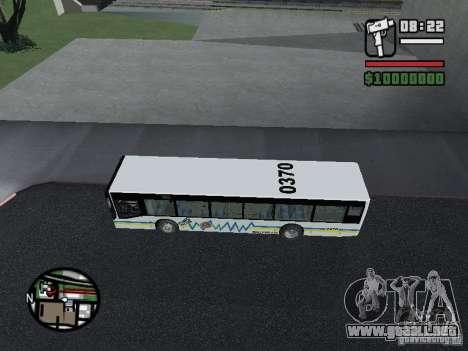 Onibus para GTA San Andreas vista posterior izquierda