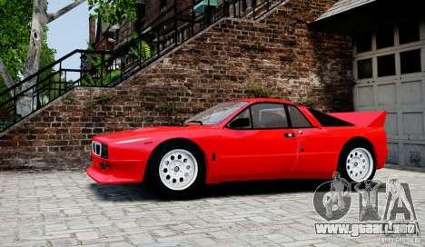 Lancia 037 Stradale para GTA 4 left