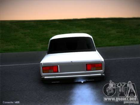 Vaz 2105 stock calidad para GTA San Andreas interior