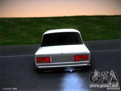 Vaz 2105 stock calidad para GTA San Andreas interior