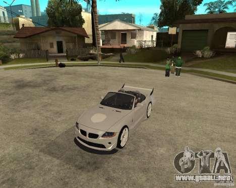 BMW Z4 Supreme Pimp TUNING volume II para GTA San Andreas left
