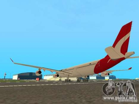 Airbus A340-300 Qantas Airlines para la visión correcta GTA San Andreas