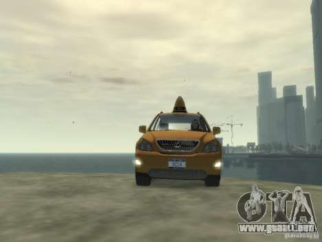 Lexus RX400 New York Taxi para GTA 4 vista lateral