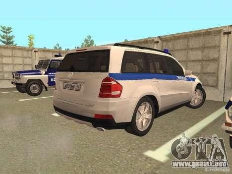 Mercedes Benz GL500 policía para la visión correcta GTA San Andreas