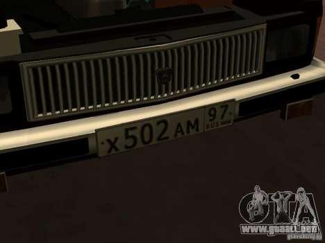 GAZ 3102 para vista lateral GTA San Andreas