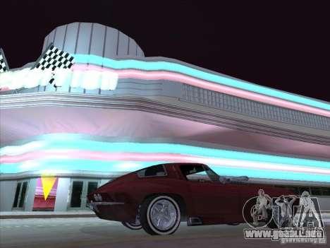 Chevrolet Corvette Big Muscle para GTA San Andreas vista posterior izquierda