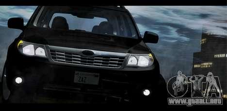 Subaru Forester XT 2008 para la vista superior GTA San Andreas