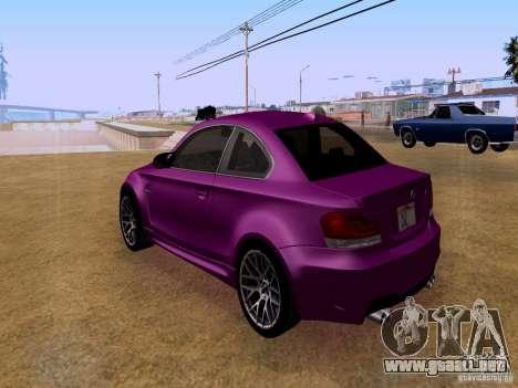 BMW 1M  2011 para GTA San Andreas vista posterior izquierda