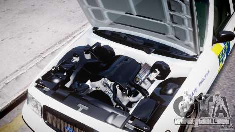 Ford Crown Victoria New Jersey State Police para GTA 4 vista lateral