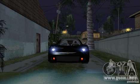 Faros de Xenon (faros de xenón) para GTA San Andreas tercera pantalla
