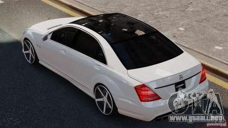 Mercedes-Benz S65 W221 AMG Vossen para GTA 4 left