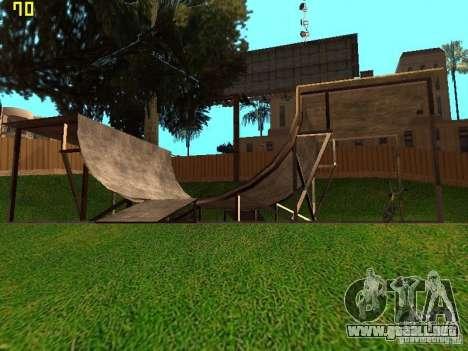 New SkatePark v2 para GTA San Andreas sucesivamente de pantalla