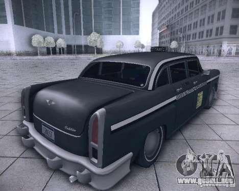 Diablo Cabbie HD para GTA San Andreas vista posterior izquierda
