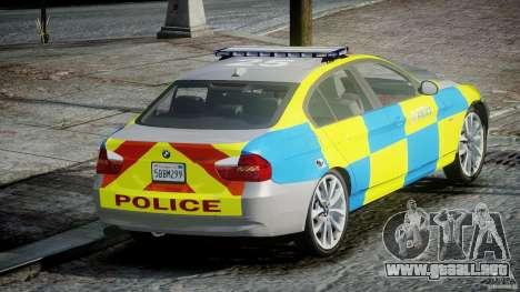 BMW 350i Indonesian Police Car [ELS] para GTA 4 Vista posterior izquierda