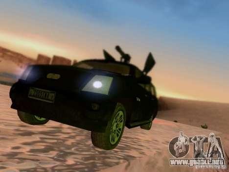 Suv Call Of Duty Modern Warfare 3 para GTA San Andreas vista hacia atrás
