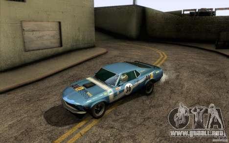 Ford Mustang Boss 302 para el motor de GTA San Andreas