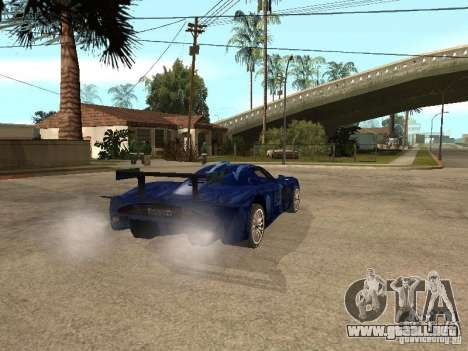 Maserati MC 12 GTrace para GTA San Andreas vista posterior izquierda