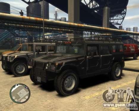 Hummer H1 para GTA 4 interior