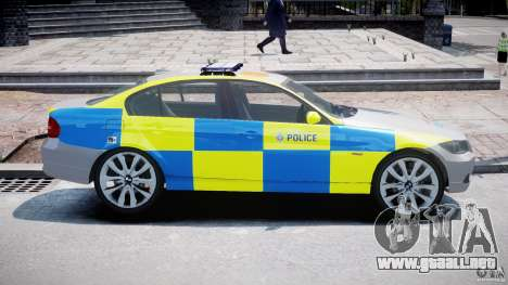 BMW 350i Indonesian Police Car [ELS] para GTA 4 left