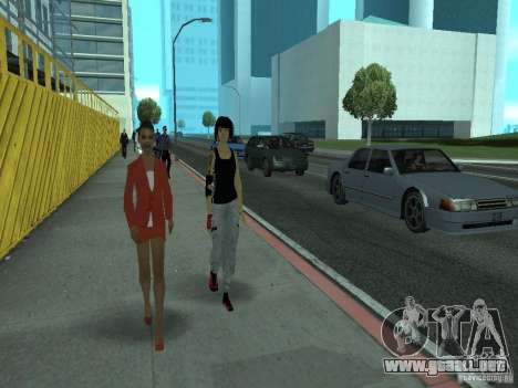 Mirrors Edge Faith para GTA San Andreas tercera pantalla