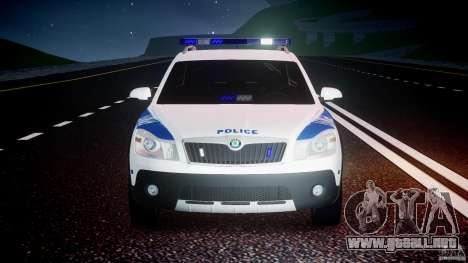 Skoda Octavia Scout NYPD [ELS] para GTA 4 interior