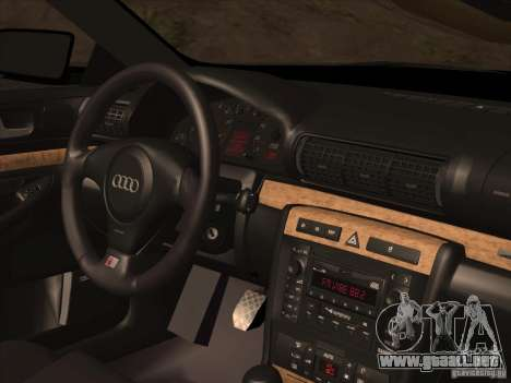 Audi S4 DatShark 2000 para vista inferior GTA San Andreas