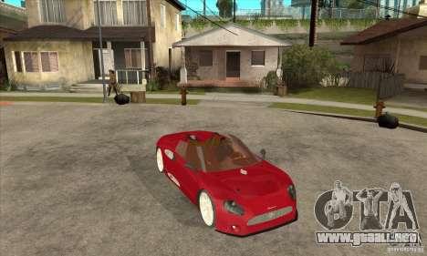 Spyker C8 Spyder para GTA San Andreas vista hacia atrás