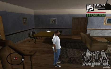 Pantalones vaqueros flacos para GTA San Andreas sucesivamente de pantalla
