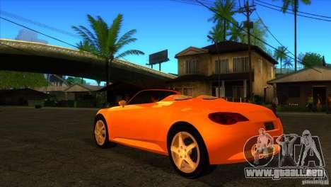 Volkswagen Concept R para GTA San Andreas vista posterior izquierda