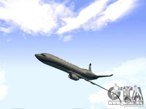 Boeing 737 Iron Man Bussines Jet para GTA San Andreas vista posterior izquierda
