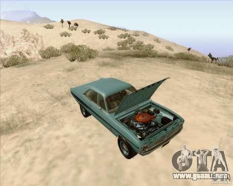 Dodge Demon 1971 para GTA San Andreas vista hacia atrás