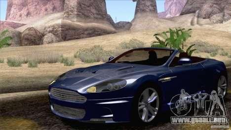 Aston Martin DBS Volante 2009 para visión interna GTA San Andreas