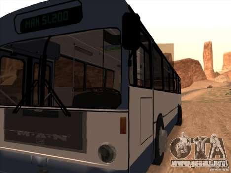 MAN SL200 Exclusive v.1.00 para visión interna GTA San Andreas