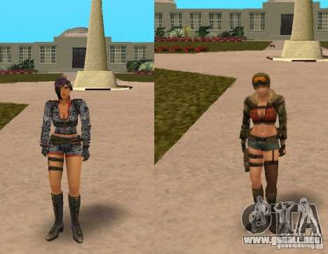 [Point Blank] Girl para GTA San Andreas segunda pantalla