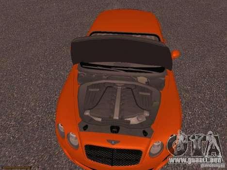 Bentley Continetal SS Dubai Gold Edition para visión interna GTA San Andreas