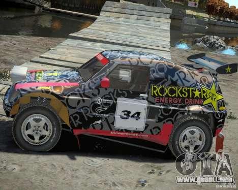 Mitsubishi Pajero Proto Dakar EK86 vinilo 1 para GTA 4 left