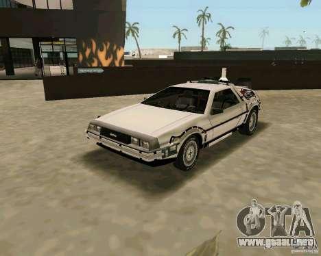 BTTF DeLorean DMC 12 para GTA Vice City visión correcta