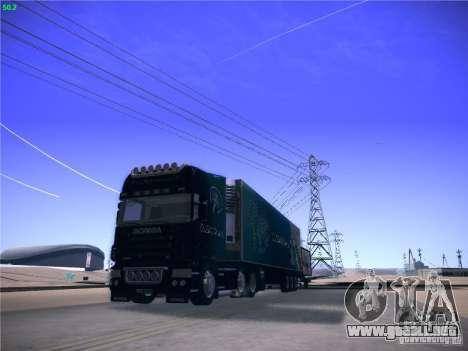 Scania R620 Dubai Trans para GTA San Andreas vista hacia atrás