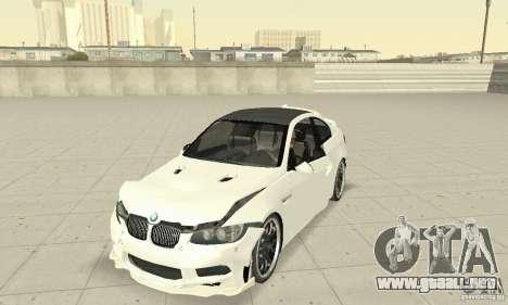 BMW M3 2008 Hamann v1.2 para la vista superior GTA San Andreas
