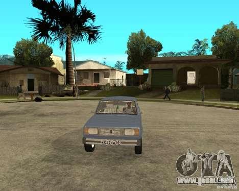 VAZ 2105 para GTA San Andreas vista hacia atrás