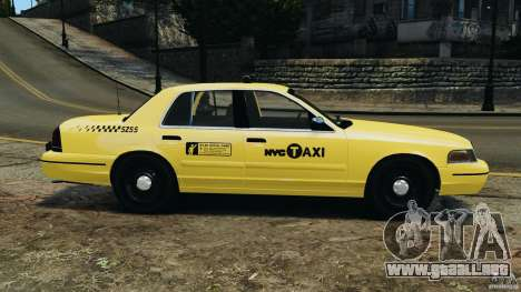 Ford Crown Victoria NYC Taxi 2004 para GTA 4 left