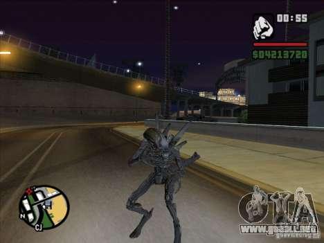 Xenomorph alienígena para GTA San Andreas sucesivamente de pantalla