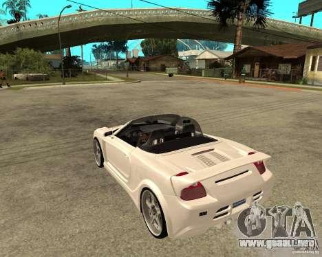 Toyota MRS2 Veilside para GTA San Andreas left