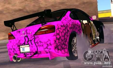 Nissan Silvia s15 tunable para GTA San Andreas vista hacia atrás