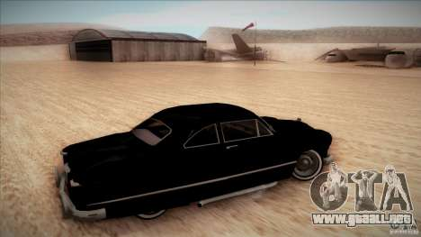 Ford Coupe Custom 1949 para GTA San Andreas vista hacia atrás