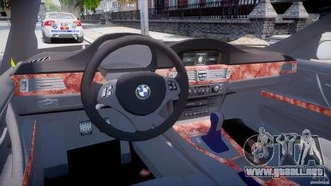 BMW 350i Indonesian Police Car [ELS] para GTA 4 visión correcta