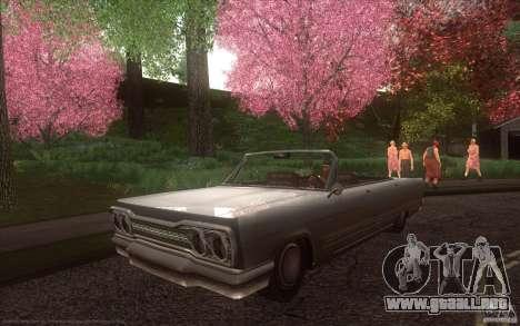 Savanna HD para GTA San Andreas vista posterior izquierda