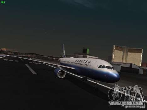 Airbus A319 United Airlines para GTA San Andreas