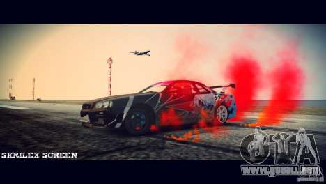 Red smoke under the wheels para GTA 4 segundos de pantalla